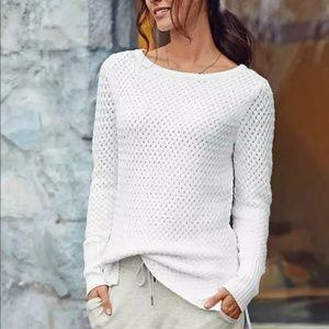 Athleta Sweater Small Cypress White Knit Wool